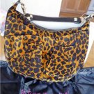 NWT Betsey Johnson Leopard Bow Hobo Shoulder Bag $168
