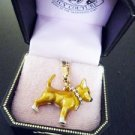 "NIB Juicy Couture Chihuahua ""J"" Rhinestone Collar Charm"