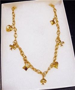 NWT Marc by Marc Jacobs Heart Diamond Gold Necklace
