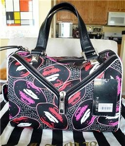 NWT L.A.M.B. Worthington Kiss Me Lips Satchel Handbag