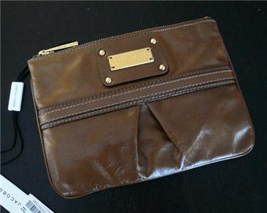 NWT Marc Jacobs Palais Royal Flat Leather Wristlet Bag