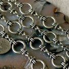 Fancy Metal Chain Antique Silver j23b-BY THE FOOT