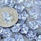 100 Acrylic Transparent Pale Blue Flower Buttoms 7.5mm p174w