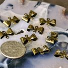 60pcs Antique Bronze Filigree Bow Tie Connector 8mm b56b