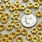 100pcs Raw Brass Stamping Filigree Flowers Beadcaps 7.5mm bf21