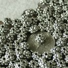 30pcs Antique Silver Plated Bali Raised Dot Bead a161