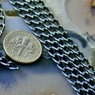 Bluish Black Plated Aluminum Link Curb Chains 3.5mm c19(10ft)