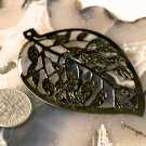 8pcs Gunmetal Black Plated Metal Leaves Filigree Wraps Pendant bp44c