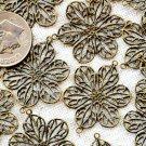 16pcs Antique Bronze Filigree Wrap Connectors be18b