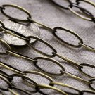 Antique Bronze Brass Chain Link Cable Chains Necklace 14.8x6.5mm c106a(2ft)