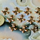 40pcs Antique Copper Plated Fleur-de-lis Artistic Pattern Embellishment 12.5mm bp19d