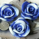 4 Wholesale Acrylic Flower Cabochon Dichroic p215b