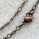 "Brass Oxidized Link Chain Blank Necklace 3.1mm cn13x 24"""