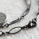 Gunmetal Black Metal Eight Figure Chain Necklace Black Necklace 5.5mm cn170 18""