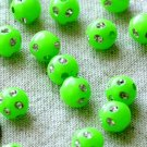 100pcs Ornate sparkling Plastic Beads-Lime Green p102