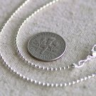 """1pc Sterling Silver Plated Brass Ball Chain Necklace Silver Necklace cn50as 18"""""""