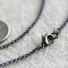 """Gunmetal Black Plated Brass Round Link Rolo Chain Blank Necklace cn149 18"""""""