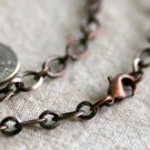 Antique Copper Plated Cable Chain Blank Copper Necklace cn180 18""