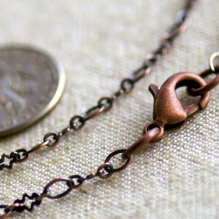 Antique Copper Brass Chain Necklace Blank Cable Chain Necklace cn81a 30""