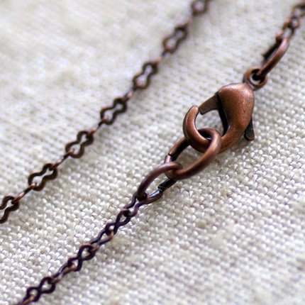 """Antique Copper Plated Brass Eight Figure Chains Blank Chain Necklace cn96 30"""""""