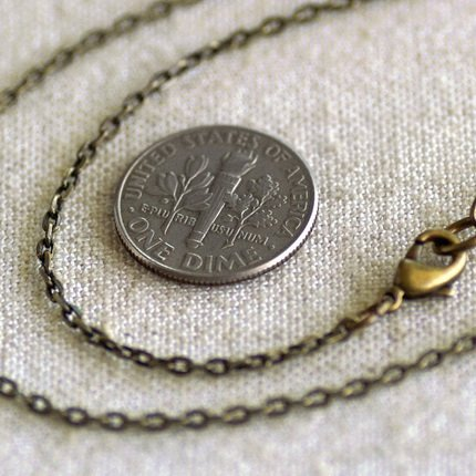 Antique Bronze Plated Brass Chain Necklace Blank Cable Chain Necklace cn98 30""
