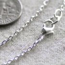 Sterling Silver Plated Brass Cable Chain Necklace Blank Silver Chains Necklace cn99 30""