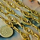 6ft Antique Golden Plated Metal Filigree Tibetan Silver Chains h04a
