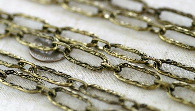 6ft Antique Bronze Plated Tibetan Silver Fancy Chains Necklace h165c