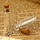 5pcs Tiny Clear Glass Bottles Vials Charms Pendants 10x28mm Bottle with Cork and Silver Eyehook GB02
