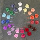 16pcs Colorful Resin Rose Flower Cabochon-15 Colors Choices-16mm Flat Back Cabochon-P225