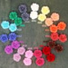 16pcs Colorful Resin Rose Flowers Cabochons-15 Colors Choices-20mm Cameo Flat Back-P227