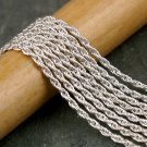 Sterling Silver Plated Rope Twist Chain 2.1mm c202s(10ft)