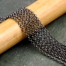 Gunmetal Black Plated Small Rolo Link Chain 2mm c206c(14ft)