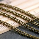 Antique Bronze Plated Curb Link Chain 2.3mm c212(16ft)