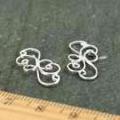 Sterling Silver Brass Wire Frame Filigree Connector Earring Charm be05s(4pcs)