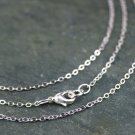 Sterling Silver Plated Brass Link Cable Chain Silver Necklace 1.6mm 16.5inch cn403(2pcs)
