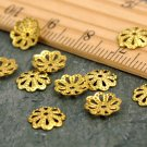 7mm Solid Brass Filigree Flower Bead Caps Stamping Finding bc57(80pcs)
