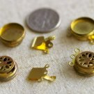 4 Sets 3-Strand Solid Brass Round Clasp Finding 16mm m79
