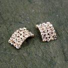 5 Rhinestone Crystal Bow Rose Gold Embellishment Hair Flower Clip Napkin Ring FA09(5