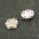 Pearl Silver Flatback Rhinestone Crystal Wedding Flower Clip Ring Napkin Ring FA16(8pcs)