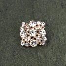 Rhinestone Crystal Diamante Flat Back Rose Gold Hair Flower Clip Ring Decoration FA18(4