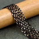 Black Faceted Brass Cable Chain 2.1mm c06(8ft)