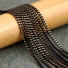 Black Faceted Brass Curb Chain 2mm c09(8ft)