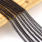 Gunmetal Black Plated Brass Link Curb Chains 1.6mm c12c (6ft)