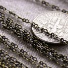 4ft Antique Bronze Plated Brass Chain link Eight Figure Chain 2.5x1.5mm c95