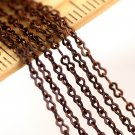 4ft Antique Copper Chain Eight Figure Brass Chains 1.5mm c96a