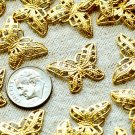 Solid Brass Butterfly Filigree Wraps 22mm be28(20pcs)