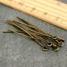 Antique Bronze Plated Eye Pins Finding 45mm m01-45