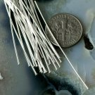 70pcs Sterling Silver Plated Brass Head Pins m08-60mm