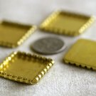 Aged Brass Square Bezel Blank Cab Base Setting 20x20mm m66(10pcs)